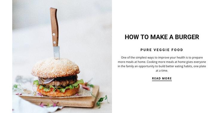 How to make a burger Joomla Template