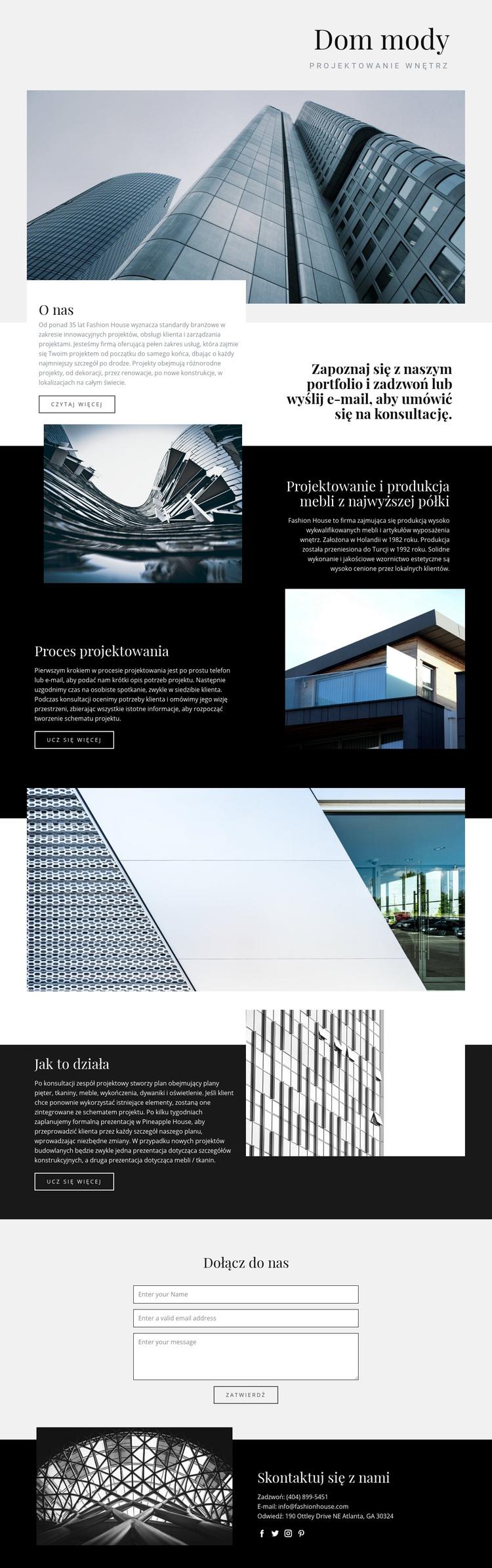Dom mody Motyw WordPress