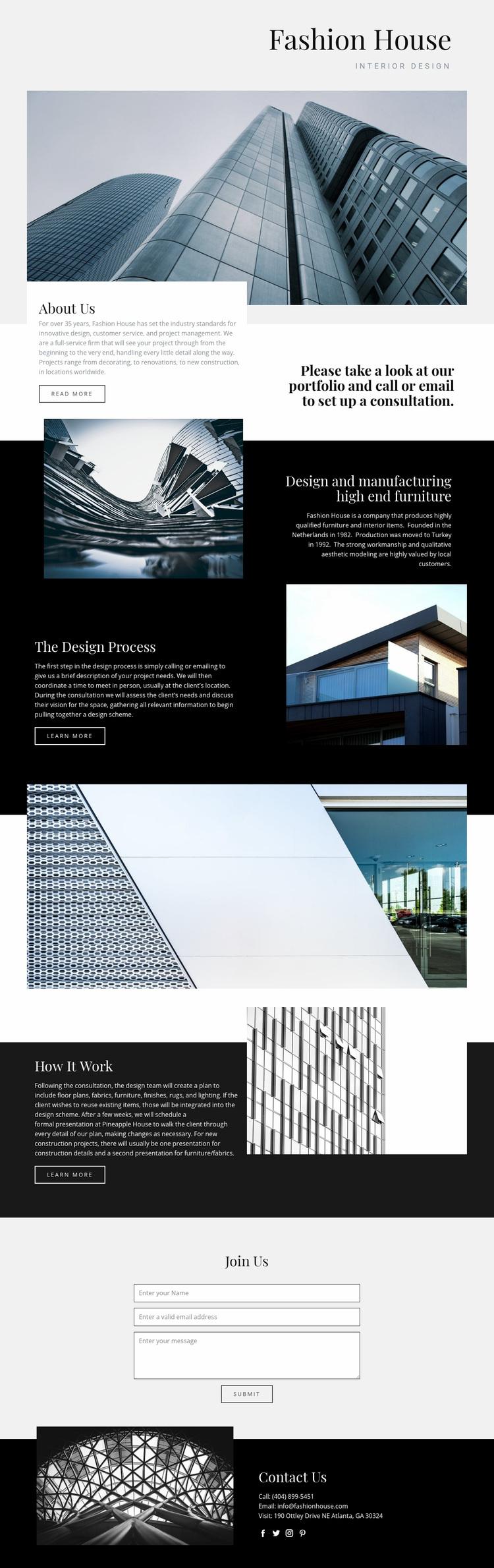 Fashion House Web Page Designer