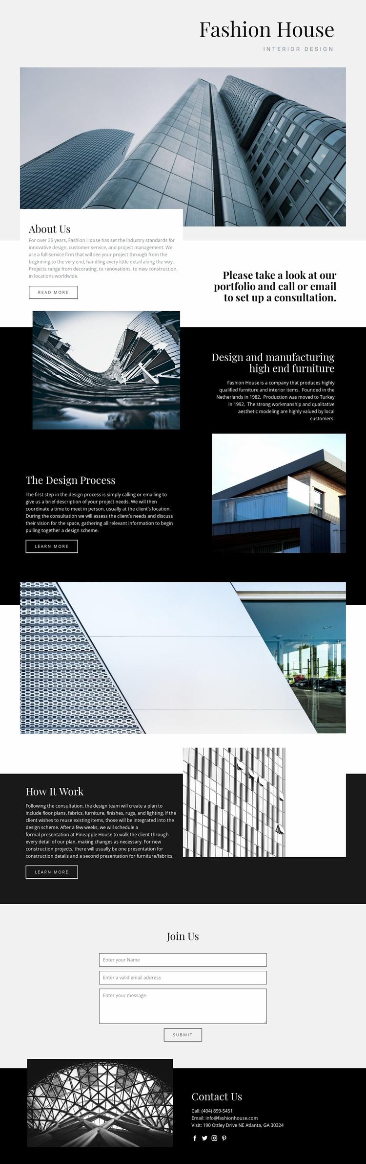 Fashion House Landing Page
