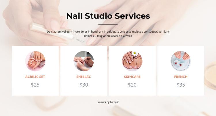 Nails studio services Joomla Template