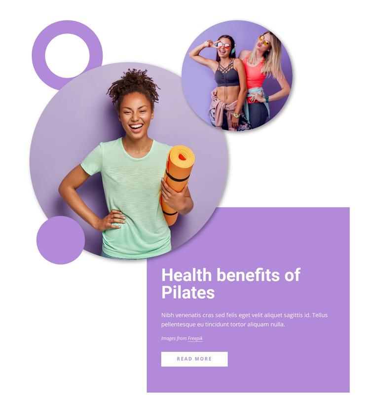 Health benefits of pilates Joomla Template