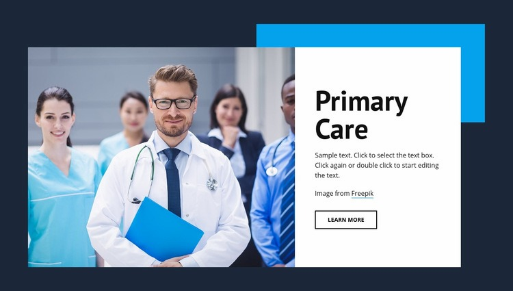Primary medical care Web Page Design