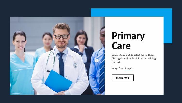 Primary medical care Web Page Designer
