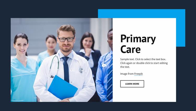 Primary medical care Website Builder Templates