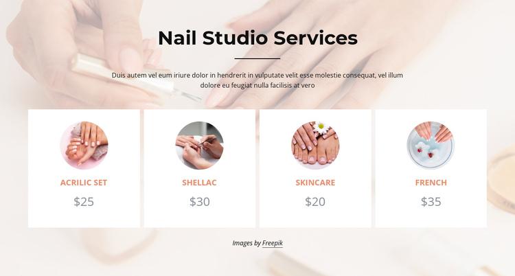Nails studio services Website Builder Software