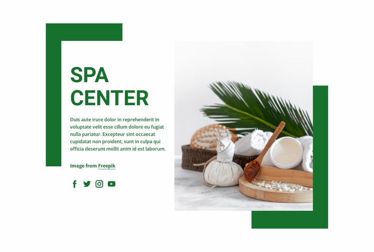 Relaxing and effective treatments Website Mockup