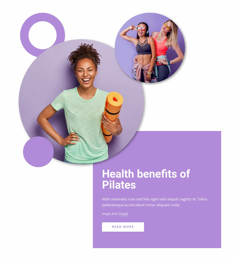 Health benefits of pilates Website Template