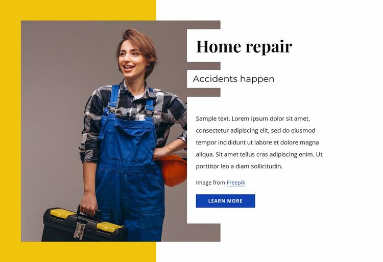 Home repair specialists Website Template
