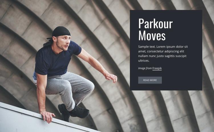 Parkour moves Web Page Design