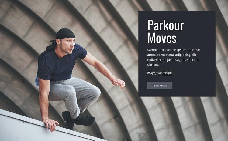 Parkour moves Website Design