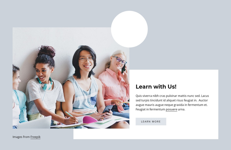 Learn with us One Page Template