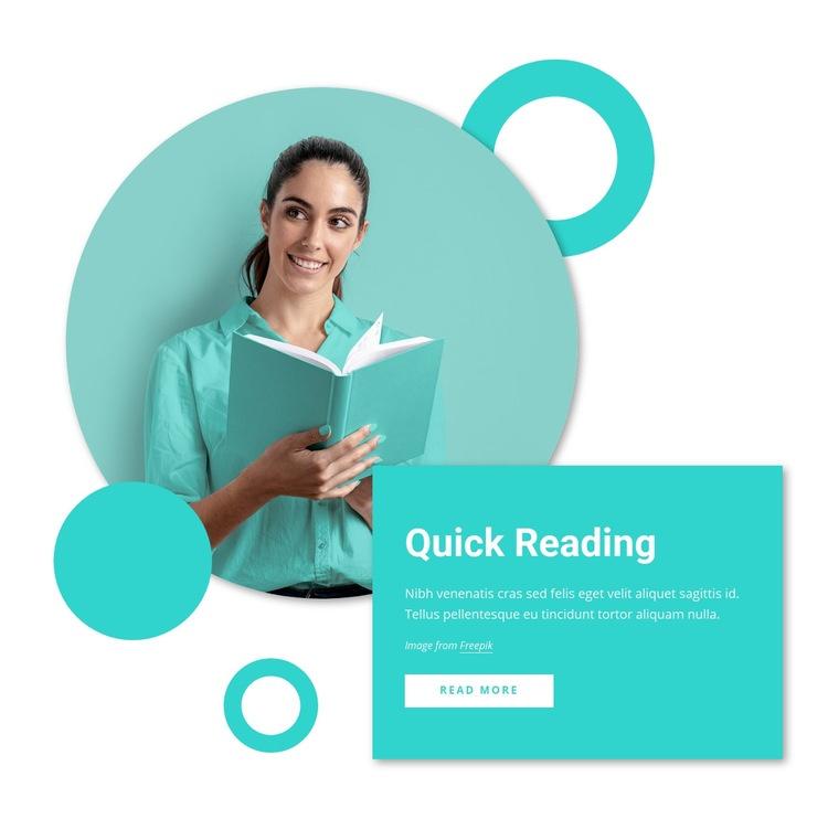 Quick reading courses Web Page Design