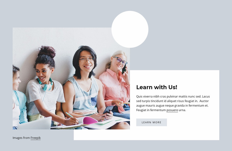 Learn with us Website Mockup