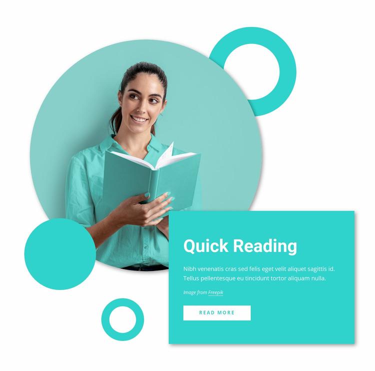 Quick reading courses Website Mockup