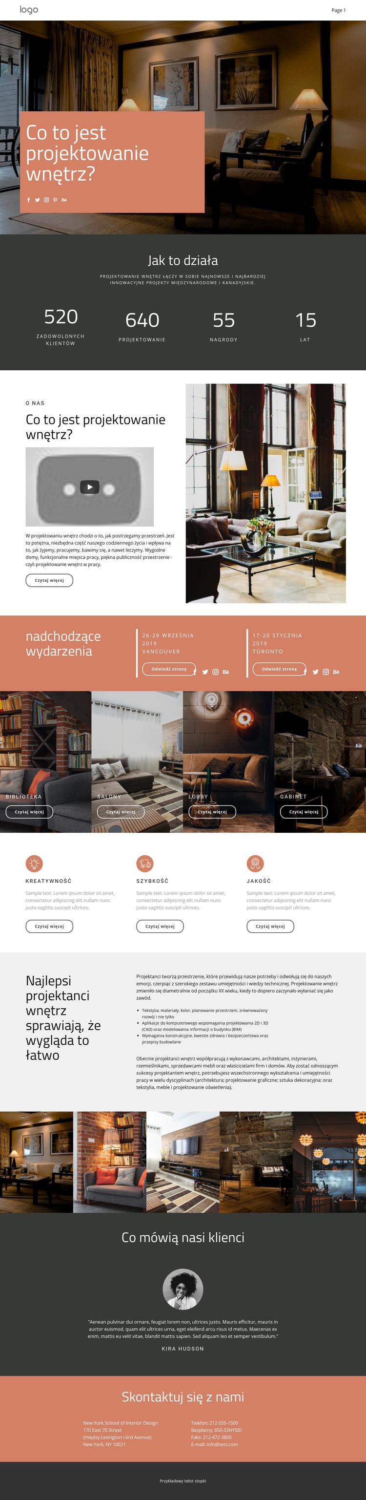 Projektowanie domów i mieszkań Szablon witryny sieci Web
