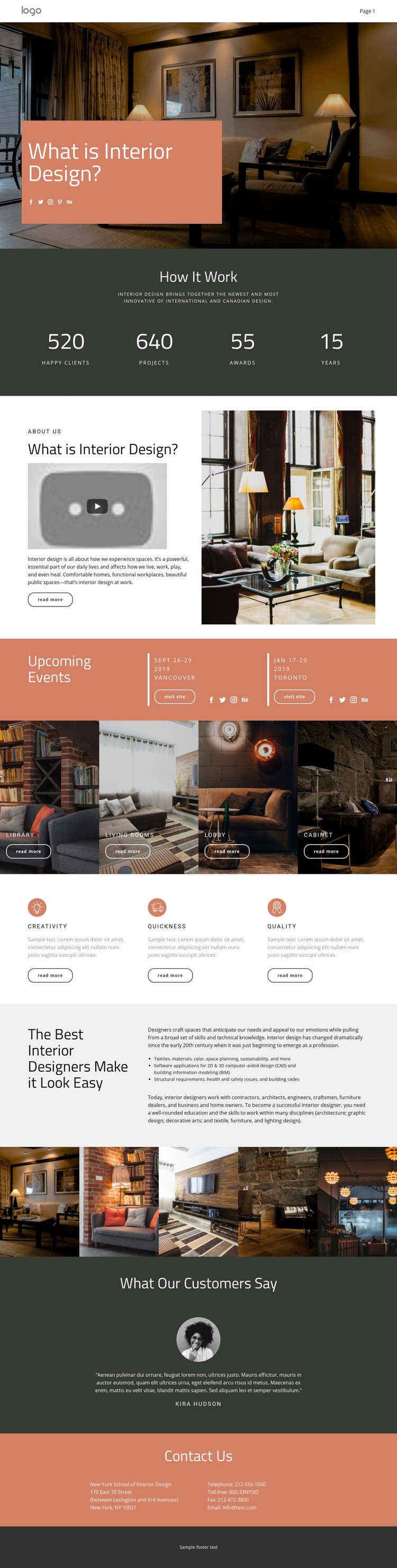 Design of houses and apartments Web Page Designer
