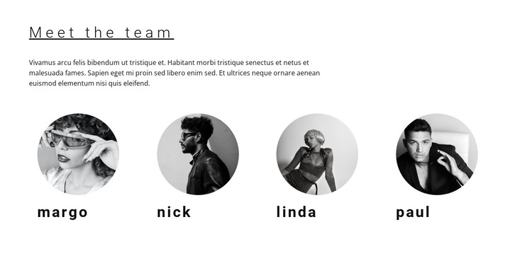 Our team of workers HTML Template