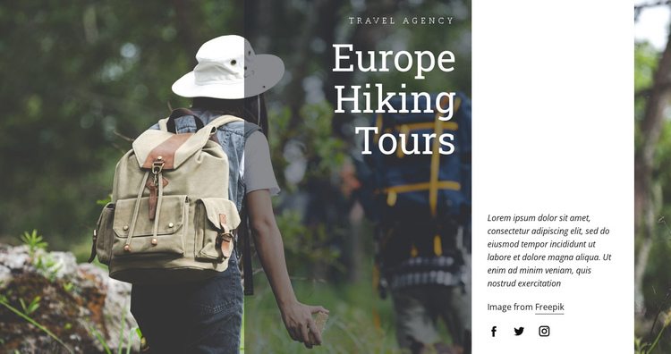 Europe hiking tours Website Builder Software