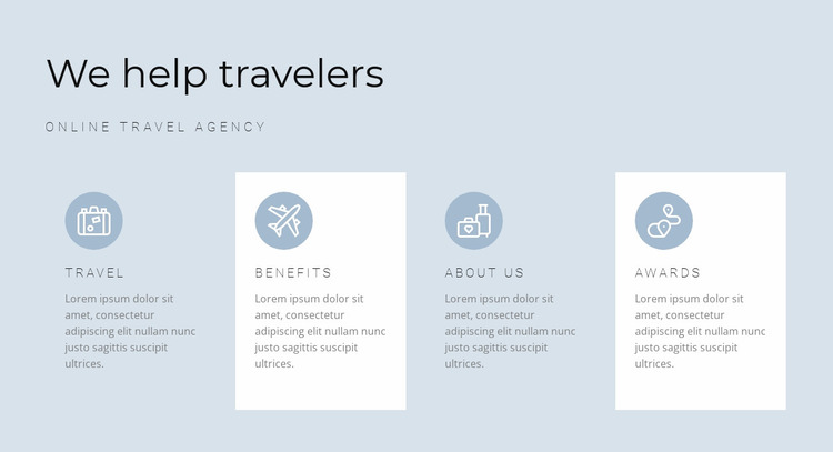 Directions of our travels Website Mockup