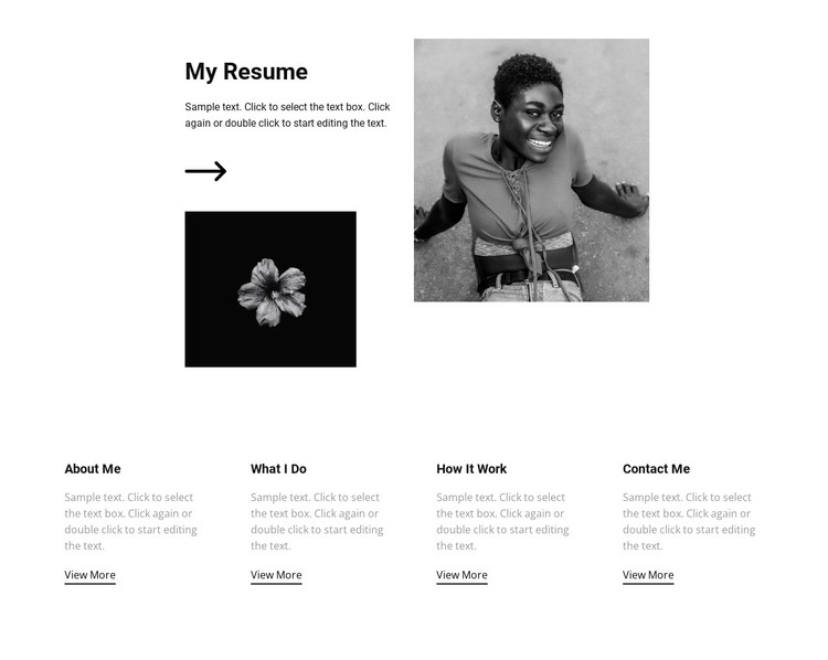 Check out my resume and job WordPress Theme