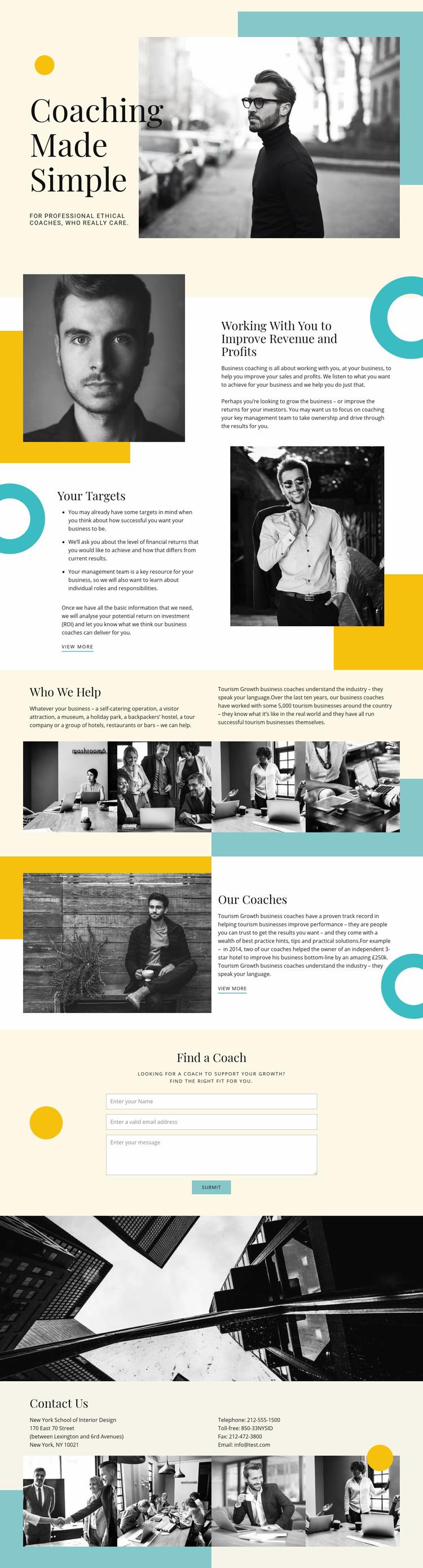Coaching Company Web Page Designer