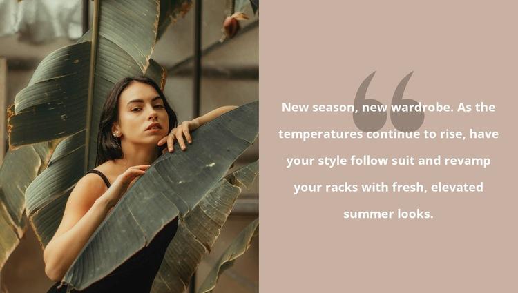 Tropical mood Homepage Design