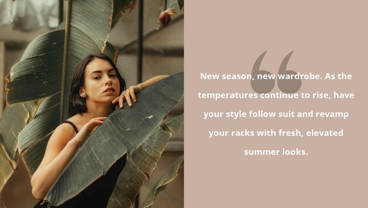 Tropical mood Website Design