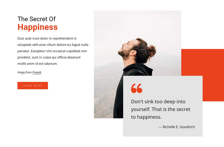 The secret of happiness HTML Template