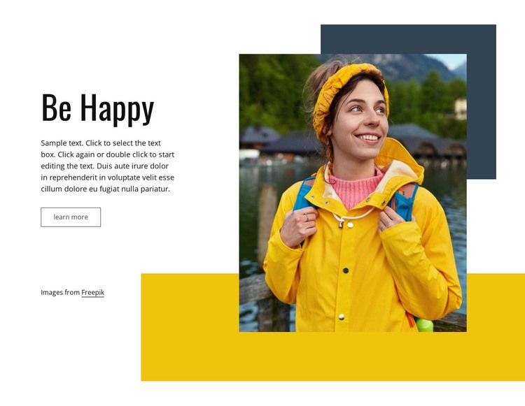Travel makes us happy Web Page Design