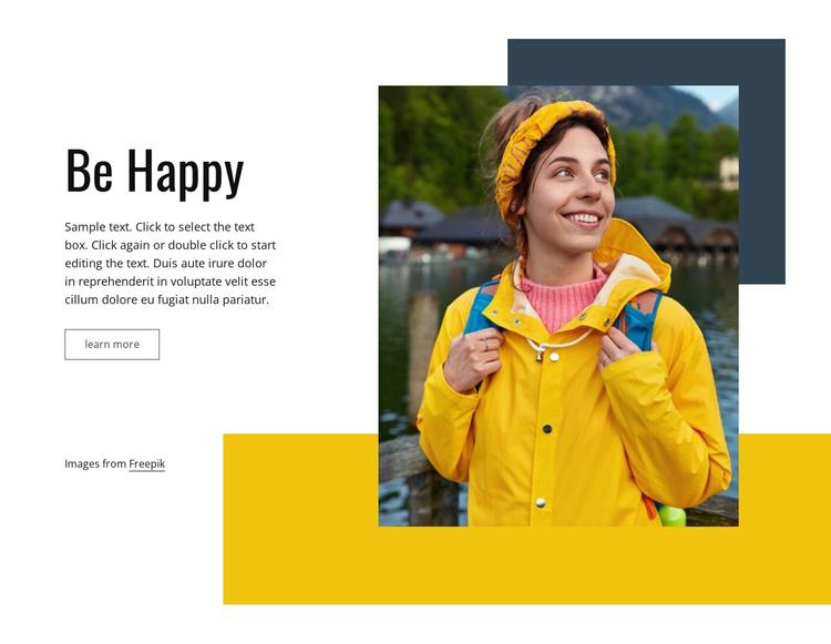 Travel makes us happy Website Builder Software