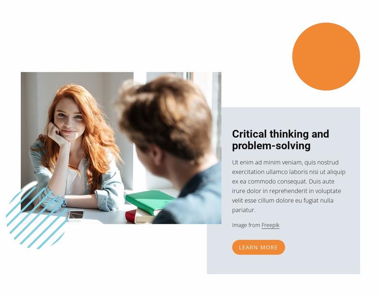 Critical thinking Website Mockup