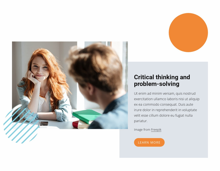 Critical thinking Website Template