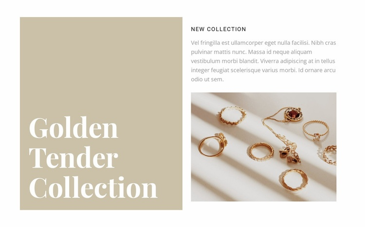 A collection of exquisite jewelry Homepage Design