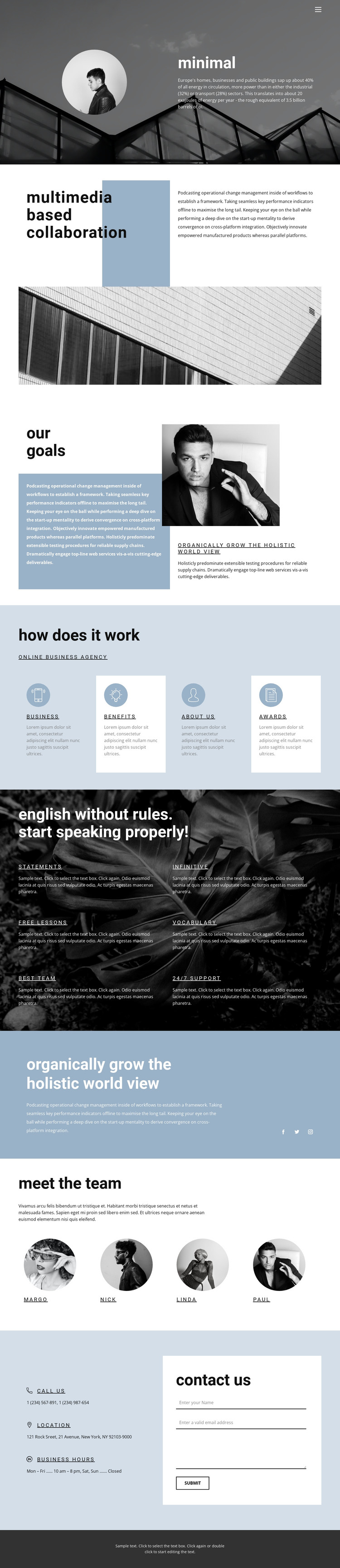 Everything you need for business HTML Template