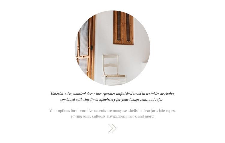 Interior decoration Web Page Design