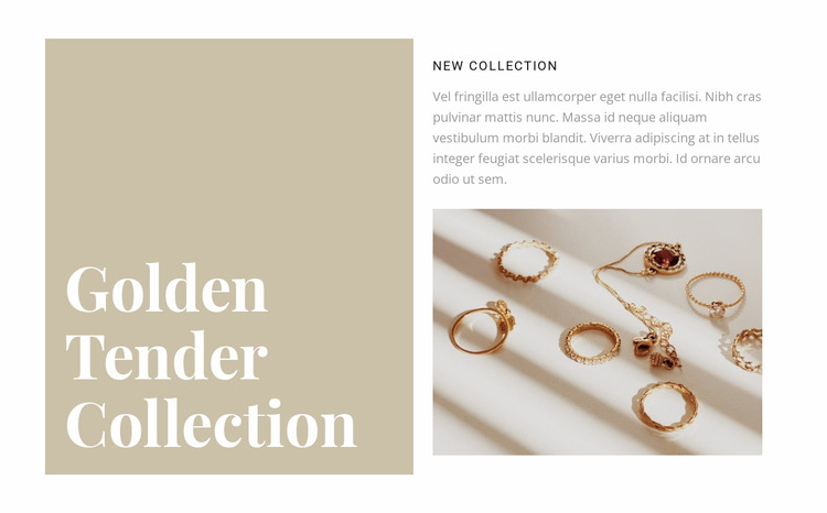 A collection of exquisite jewelry Website Mockup