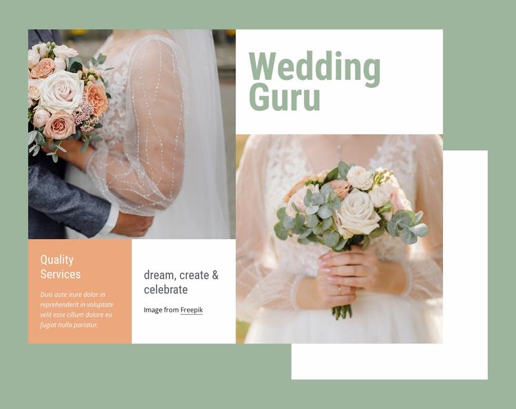 Wedding guru Website Template