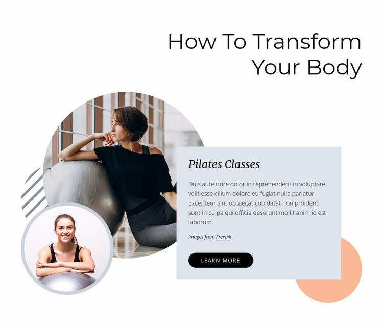 How to transform your body Website Template