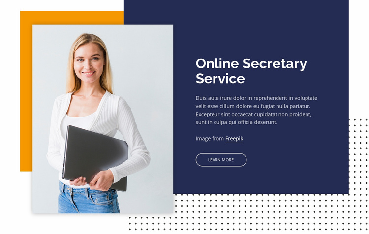 Secretary service Landing Page
