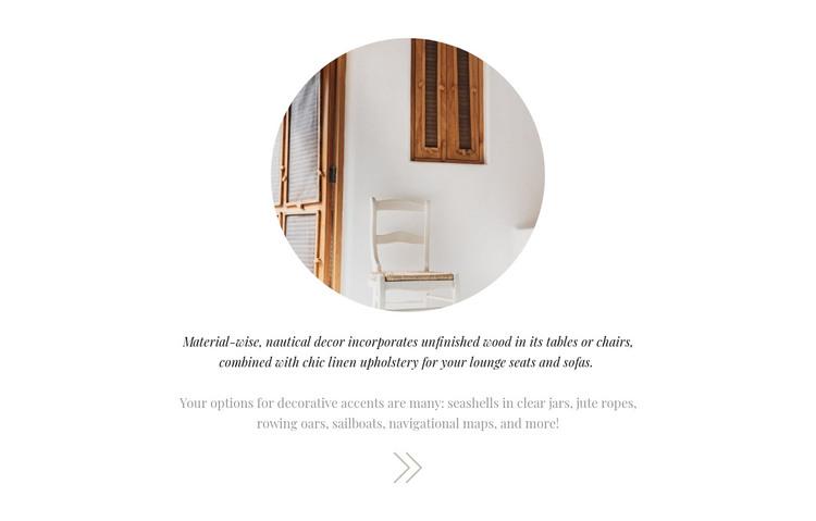 Interior decoration WordPress Theme