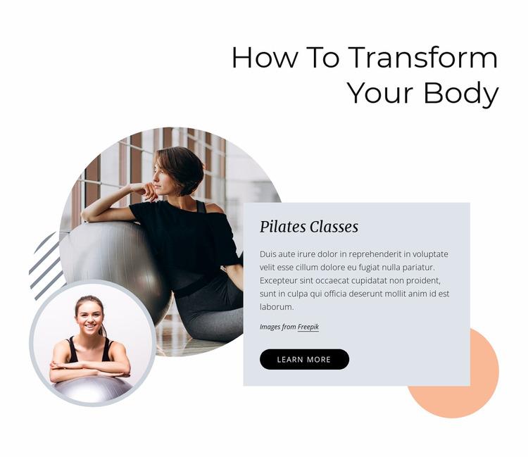 How to transform your body WordPress Website Builder