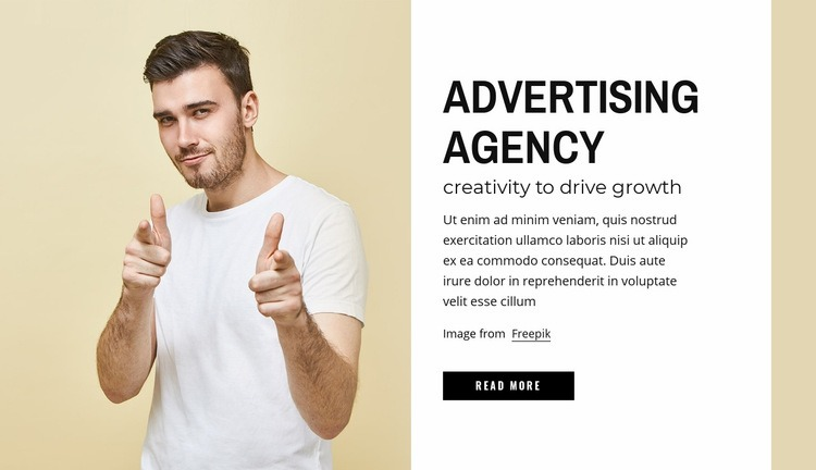 Advertising agency Html Code Example