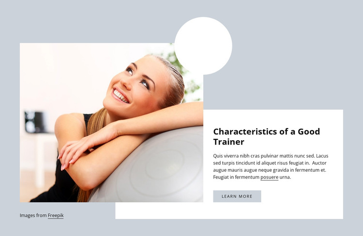 Characteristics of a Good Trainer HTML Template