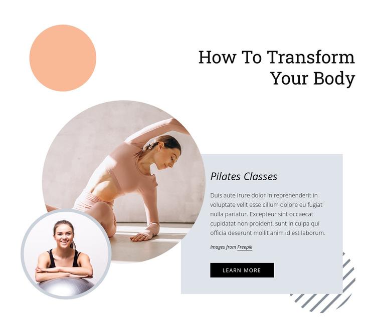 Pilates develops core strength Website Builder Software