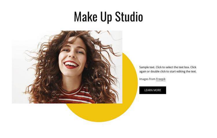 Make up studio Website Mockup