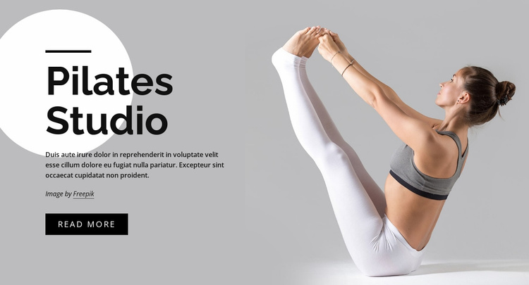 Build core strength with pilates Website Template