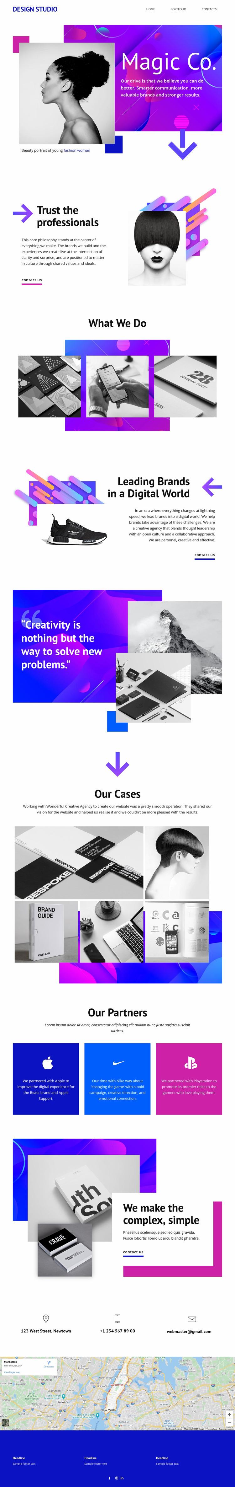Magic Creative Studio Website Mockup