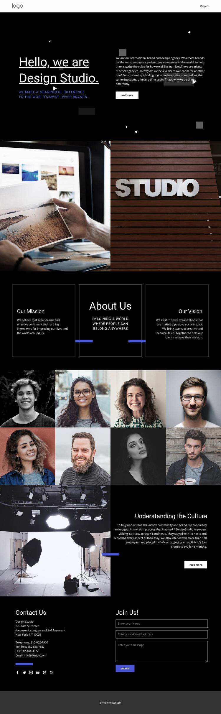 Our design is unique Website Mockup