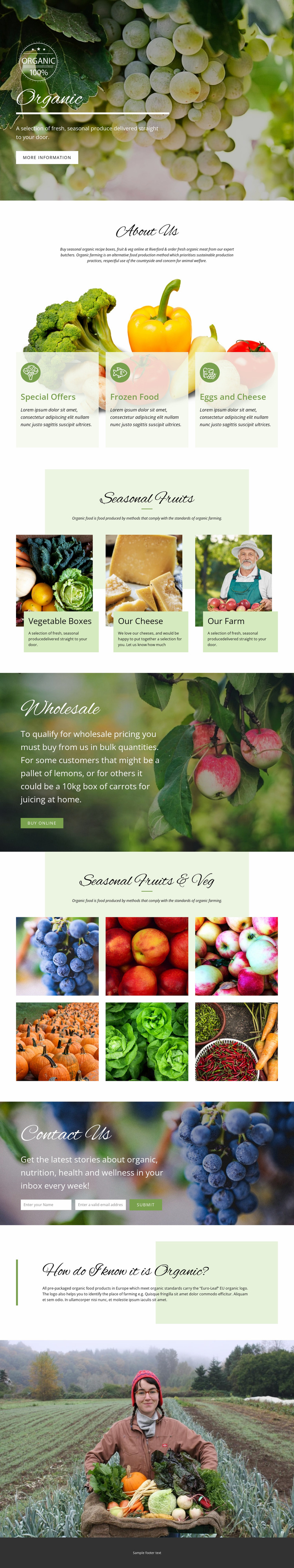 Healthier with organic food Html Website Builder